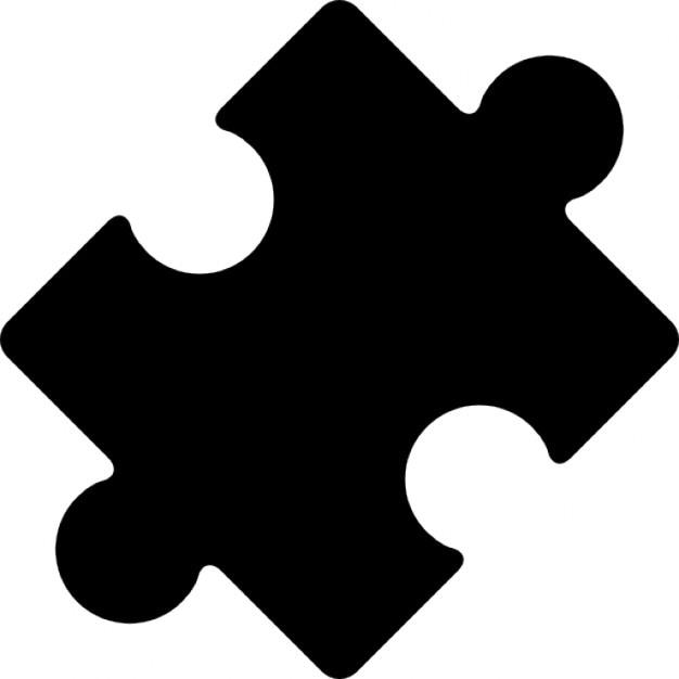 Pieza del rompecabezas girada negro   Descargar Iconos gratis