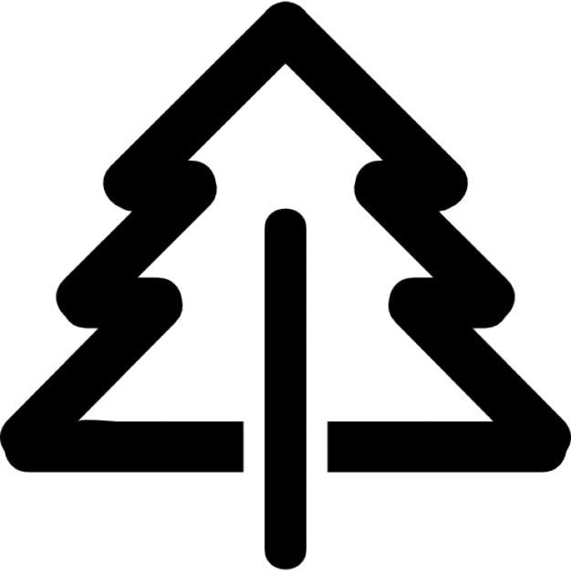 Pino contorno bruto | Descargar Iconos gratis | {Pino logo 52}