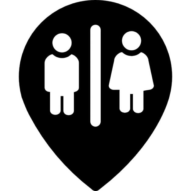 Punto baños marcador  Descargar Iconos gratis