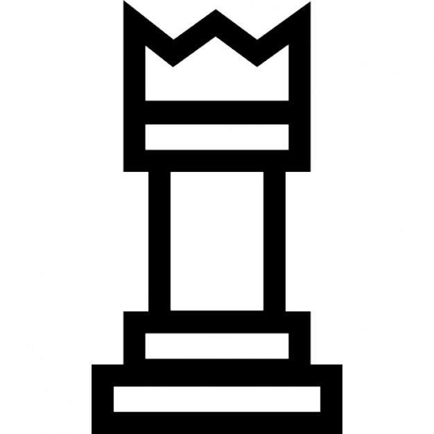 rey pieza de ajedrez esquema descargar iconos gratis