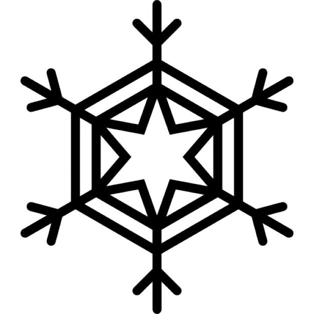 Seis puntos copo de nieve estrella descargar iconos gratis for Estrella de nieve