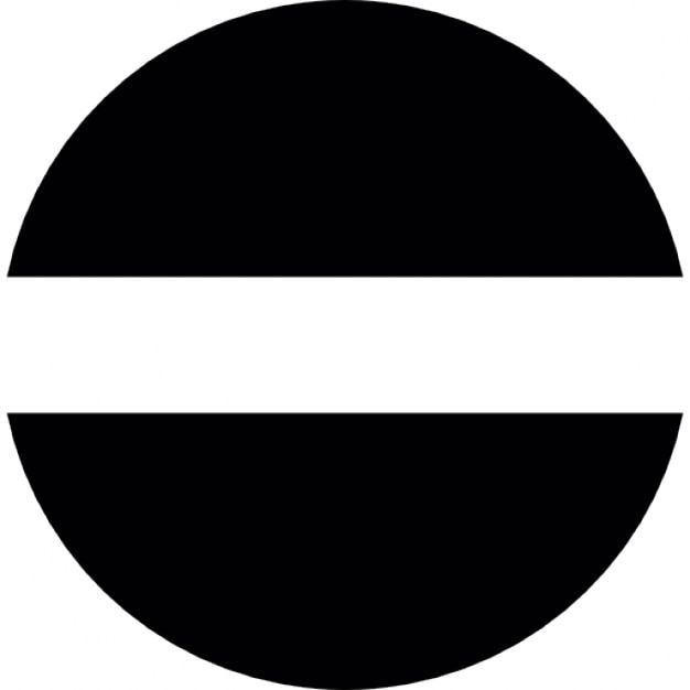 Semic rculos con espacio en el centro descargar iconos gratis - Halve cirkelbank ...