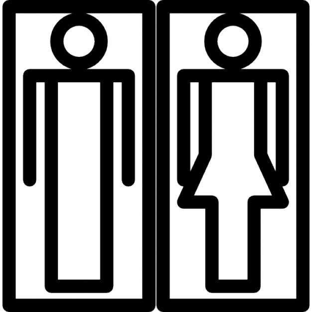 Imagenes Baños Femeninos:Señales de baños femeninos y masculinos con mujer y hombre formas
