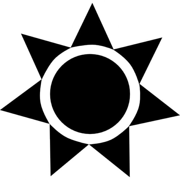 sunshine clipart black and white