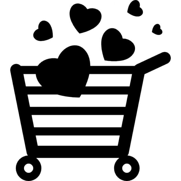 Shopaholic carrito de la compra con el coraz n descargar - Carrito dela compra ...