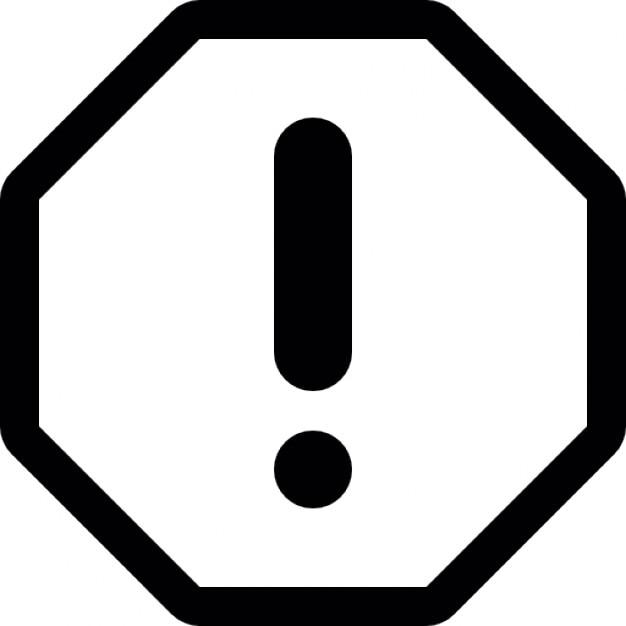Resultado de imagen de simbolo de exclamacion icono