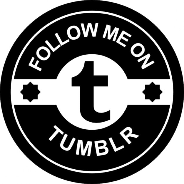 Sígueme en insignia sociales tumblr Icono Gratis