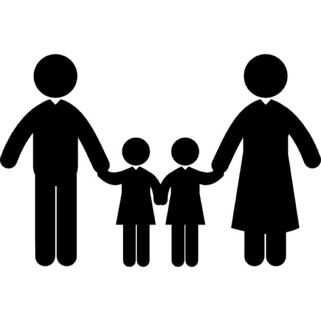 Resultado de imagen de dibujo silueta familia