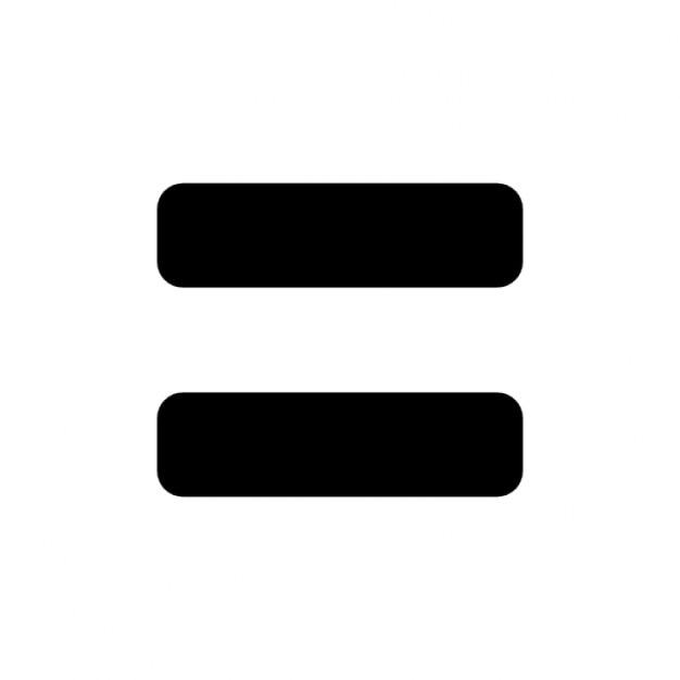Símbolo de la igualdad Icono Gratis