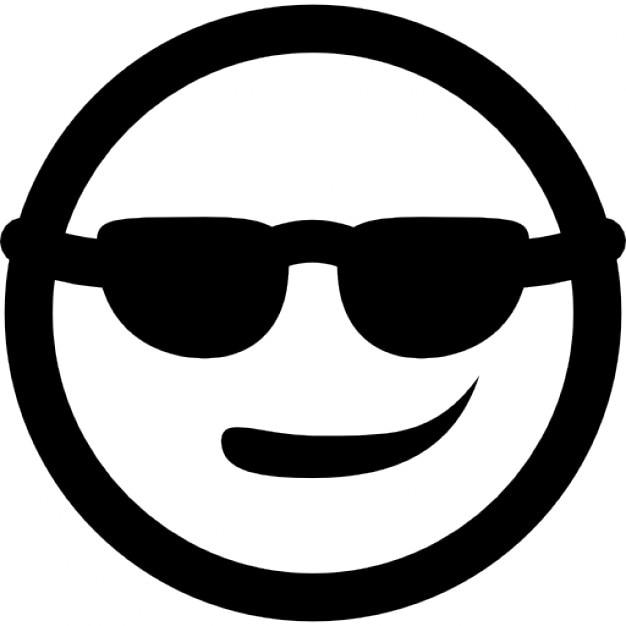 701db5b3b1 Sonriente fresca con gafas de sol   Descargar Iconos gratis