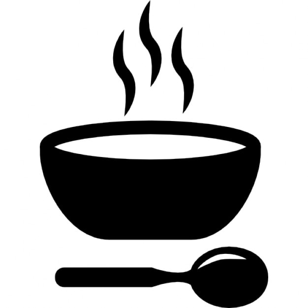 Sopa caliente plato con cuchara descargar iconos gratis for Comida rapida y calentita