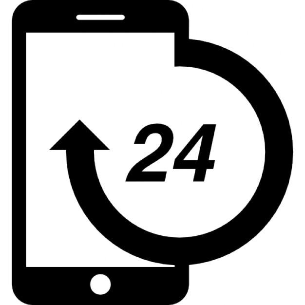 Teléfono de atención 24 horas | Descargar Iconos gratis