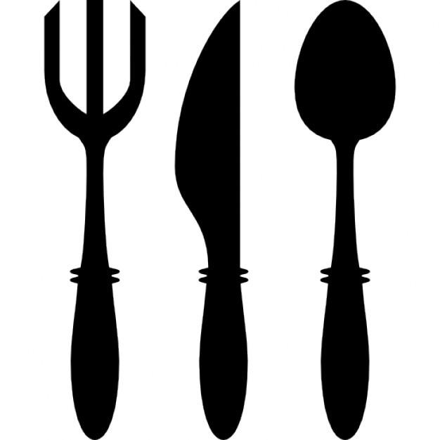 Tenedor cuchillo y cuchara de utensilios descargar for Utensilios de cocina logo