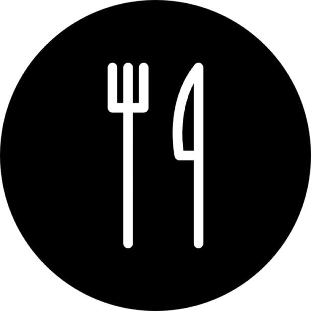 Tenedor y cuchillo esquema fino descargar iconos gratis for Plato tenedor y cuchillo