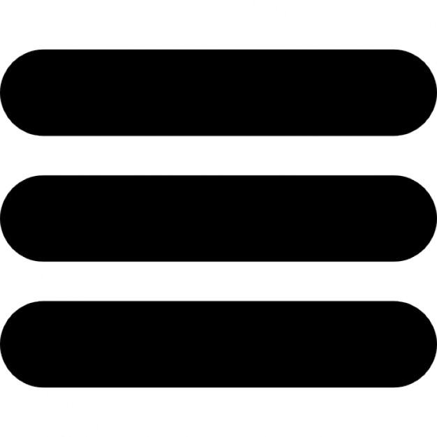 Tres barras horizontales Icono Gratis