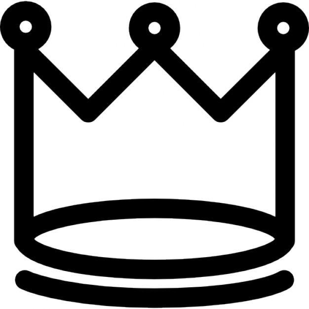 variante de la corona de rey con puntas circulares | descargar
