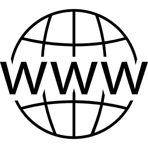 World Wide Web en la red Icono Gratis