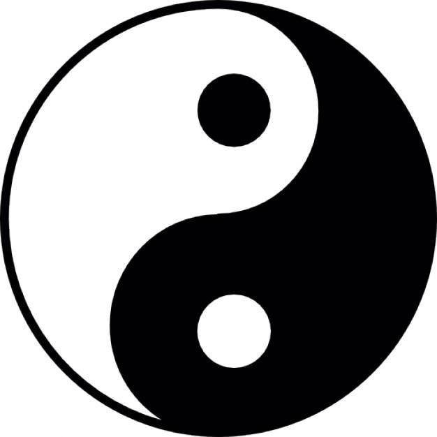 Yin yang ios 7 s mbolo descargar iconos gratis for Yin yang raumgestaltung