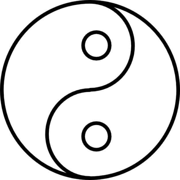 Yin yang, ios 7, símbolo Icono Gratis