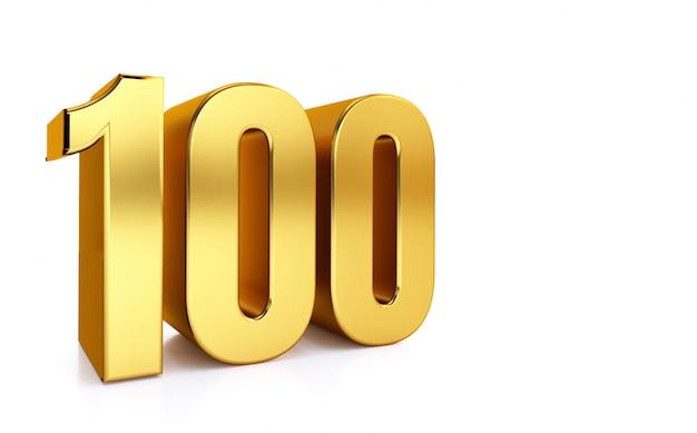 100e Anniversaire 100e Anniversaire 100 Ans Numero Un Cent D Or Chiffre 100 Carte De Voeux 100e Numero Photo Premium