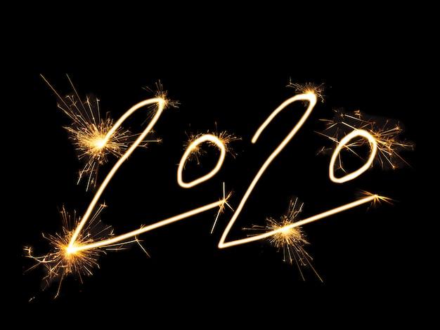 2020 Pétards De Noël Dorés Photo Premium