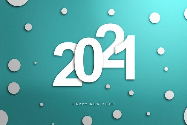 2021 Sur Fond Coloré. Bonne Année 2021 Photo Premium