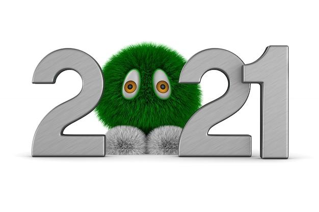 2021 Nouvel An. Illustration 3d Isolée Photo Premium