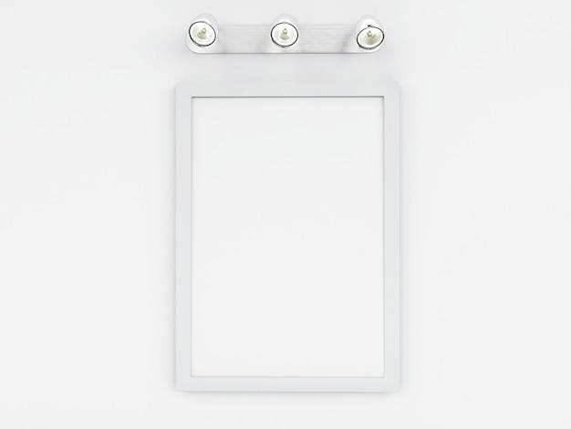 3d modèle de cadre vide avec place pour votre texte et design Photo Premium