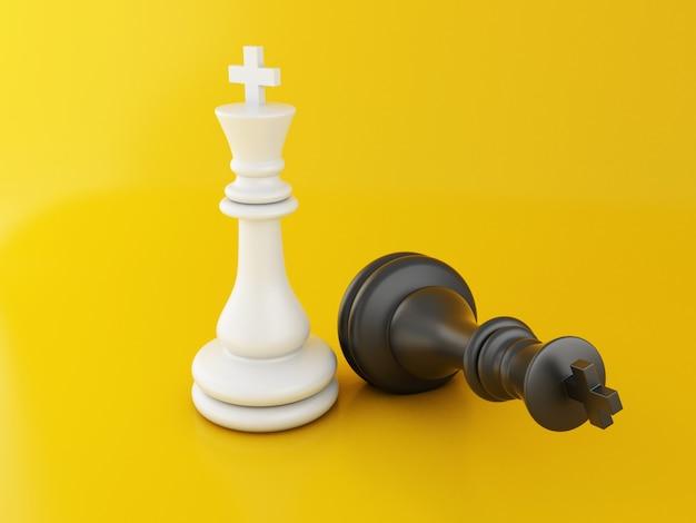 3d pièce d'échecs perdue, échecs en chute. Photo Premium