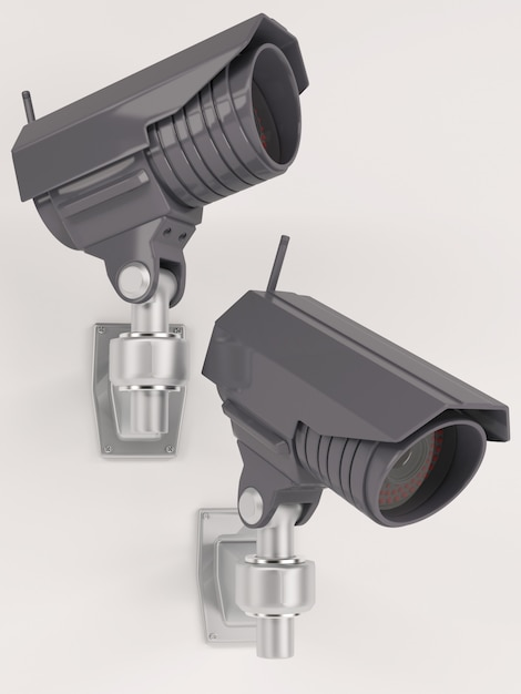 3d render de caméra de sécurité cctv Photo gratuit