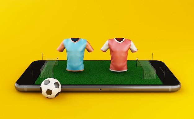3d soccer pariez en ligne Photo Premium