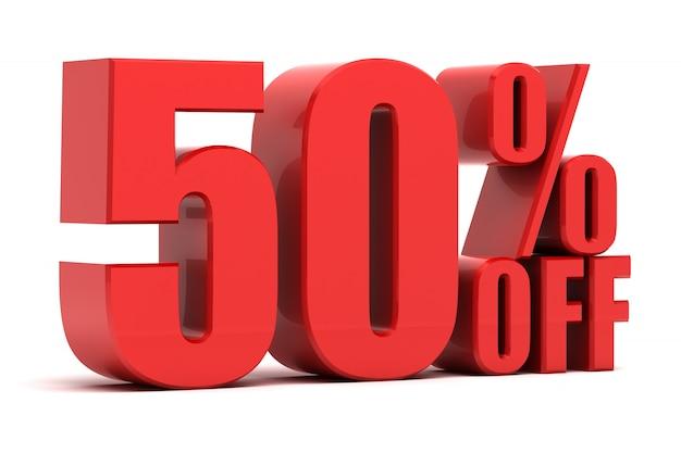 50 Pour Cent De Promotion Photo Premium