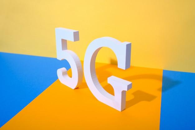 5g logo de 5ème génération standard Photo Premium