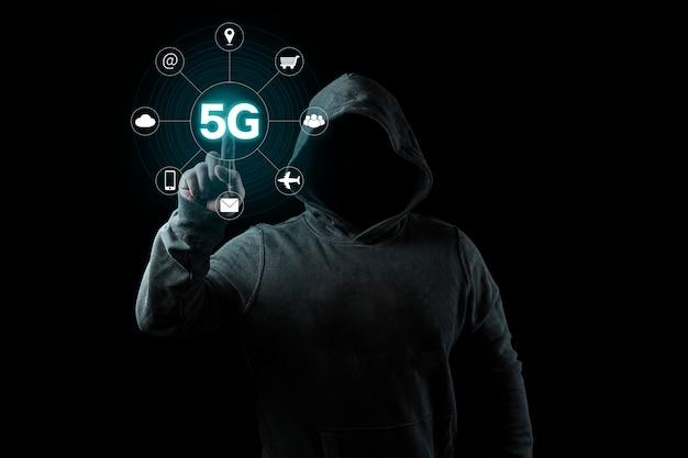 5g network internet mobile business concept sans fil Photo Premium