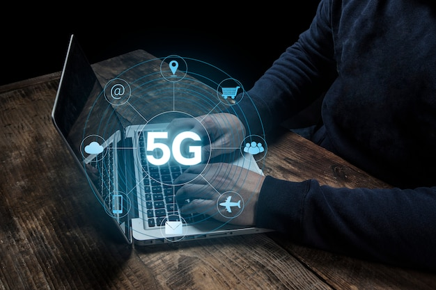 5g network internet mobile business concept sans fil Photo Premium