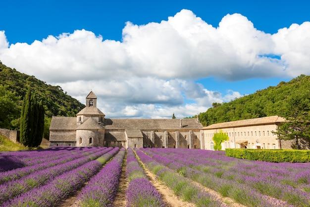 Abbaye De Sénanque Et Rangées Fleuries De Fleurs De Lavande. Gordes, Luberon, Vaucluse, Provence, France, Europe. Photo gratuit