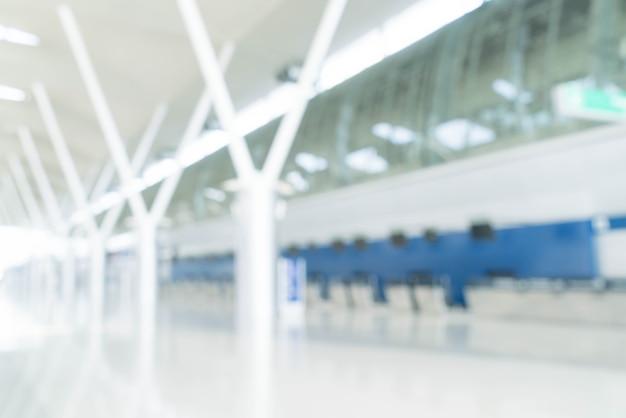 Abstract Blur Contexte: Comptoirs D'enregistrement à L'aéroport Vide Photo gratuit