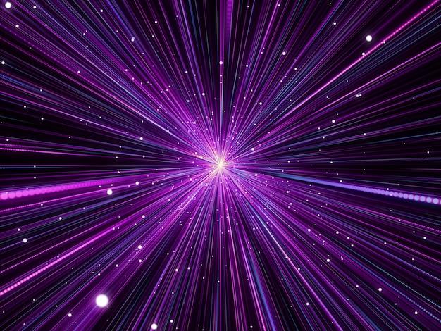 Abstrait 3d Avec Effet D'espace Hyperzoom Photo gratuit