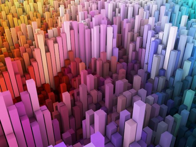 Abstrait 3d Avec Paysage De Blocs Photo gratuit