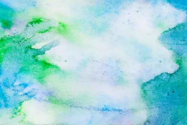 Abstrait aquarelle bleu et vert Photo gratuit