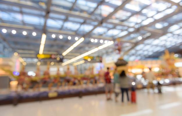Abstrait Arrière-plan Flou De L'aéroport Photo Premium