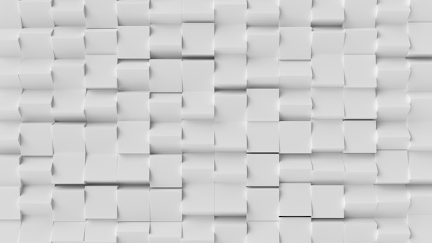Abstrait blanc cube Photo Premium