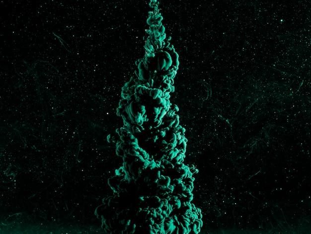Abstrait Bleu Azur Dans Un Liquide Sombre Photo gratuit