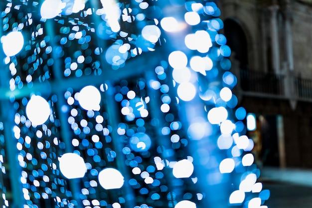Abstrait bleu bokeh illuminé Photo gratuit