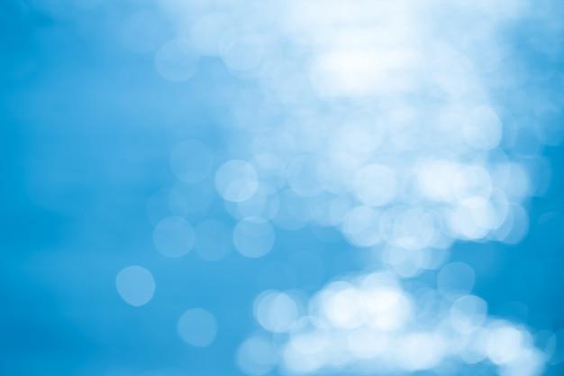 Abstrait Bleu Avec Bokeh Photo Premium