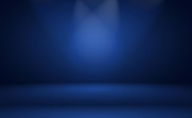 Abstrait Bleu Dégradé De Luxe. Bleu Foncé Lisse Avec Vignette Noire Photo Premium