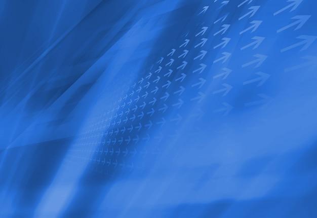 Abstrait bleu avec des flèches directionnelles Photo Premium