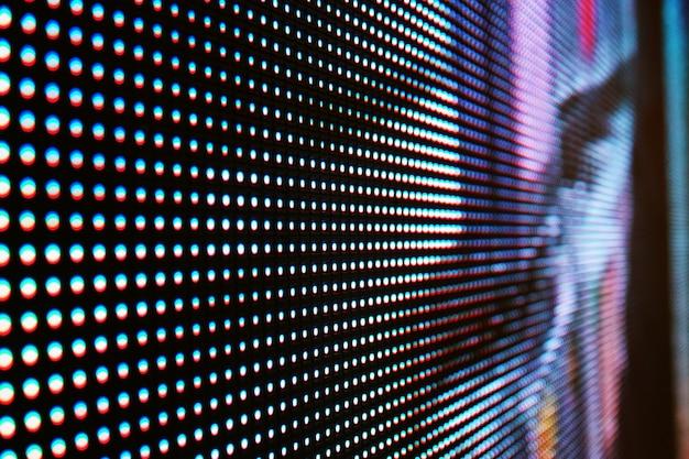 Abstrait bouchent abstrait coloré mur lumineux vidéo led smd Photo Premium