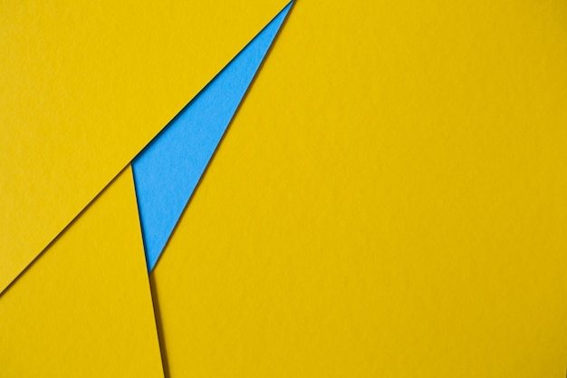 Abstrait de carton jaune et bleu Photo gratuit