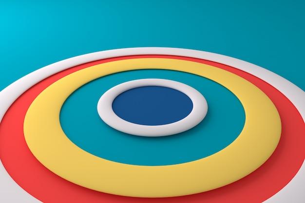 Abstrait de cercle coloré Photo Premium